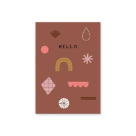 """Leonie van der Laan kaart """"Hello"""""""