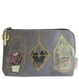 Disaster Designs urban garden zip purse
