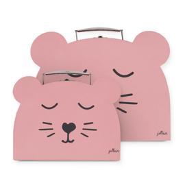 Jollein speelkoffertje Animal club rouge (2 pack)
