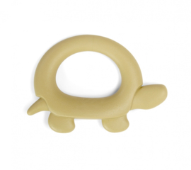 Dantoy Tiny BIOplastic bijring olijfgroen schildpad