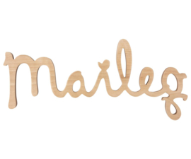 MAILEG WOODEN LOGO - BIRCH