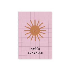Leonie van der Laan postkaart Hello Sunshine