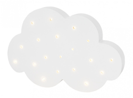 Jabadabado Houten ledlamp wolk