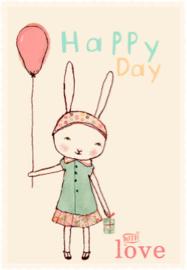 Maileg kaartje Happy birthday meisje