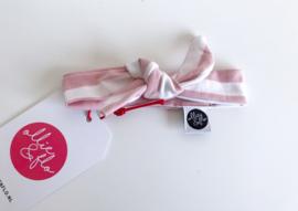 Ollie & Flo Bandana pop streep roze wit