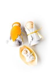 Mientje Frobel Kerst Jozef, Maria en Jezus in kribbetje