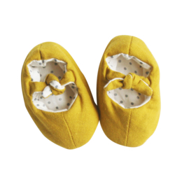Alimrose BOBBY BABY SLIPPERS BUTTERSCOTCH LINEN