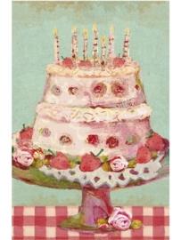 Maileg kaartje verjaardagstaart