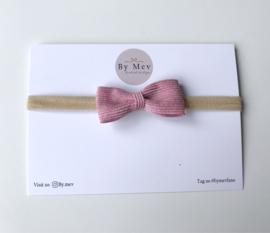 By Mev hoofdbandje Newborn Little Anna Dusty pink