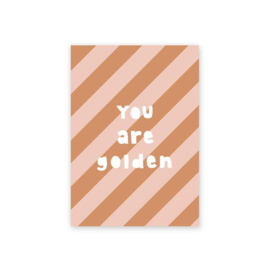 Leonie van der Laan postkaart You are golden