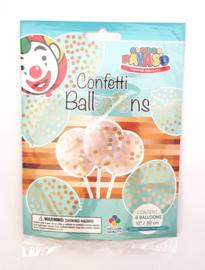 Ballonnen confetti (6 stuks)