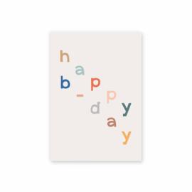 Leonie van der Laan postkaart Happy B-day