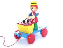 Trekfiguur Clown met xylofoon