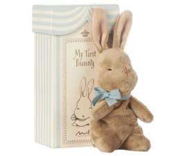 Maileg my first bunny in box blauw