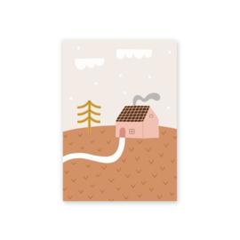 Leonie van der Laan postkaart Verhuizing