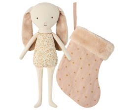 Maileg Bunny Angel in stocking powder