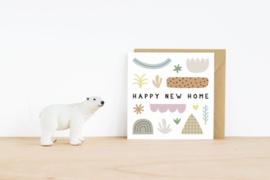 Leonie van der Laan dubbele kaart enveloppe Happy new home