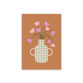 Leonie van der Laan postkaart Flowers