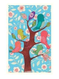 Maileg kaartje vogels in een boom
