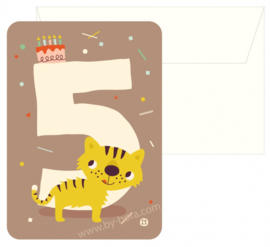Bora Postkaart 5 jaar Tiger