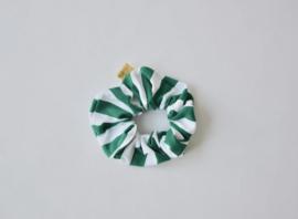 Ollie & Flo scrunchie wokkel groen wit gestreept