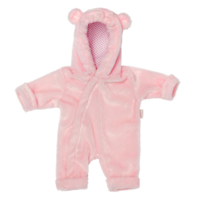 Skrallan Poppenkleding onesie roze/stip mt36