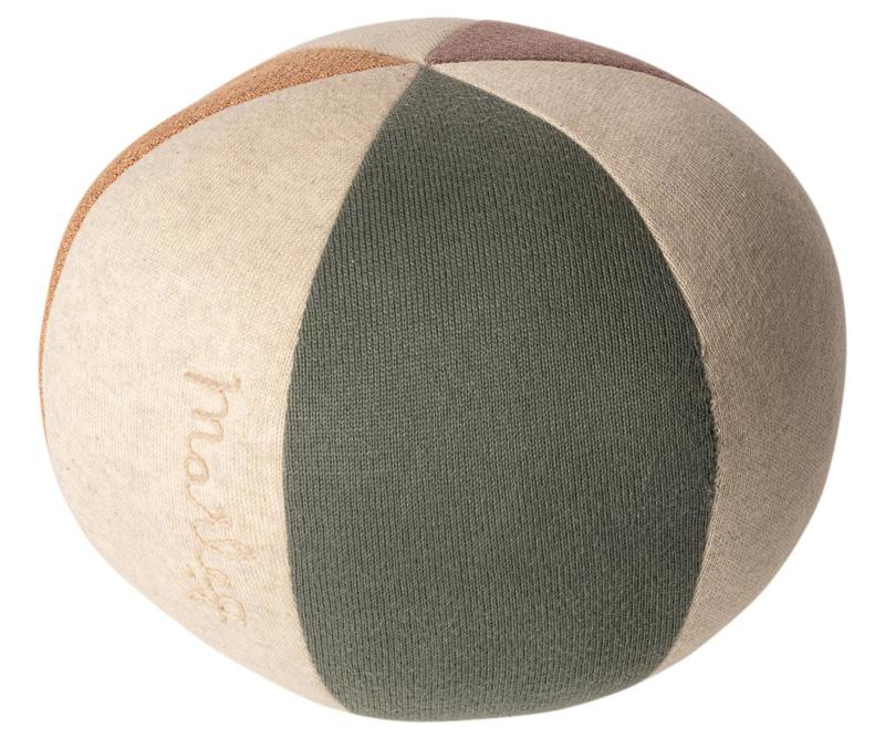 Maileg BALL - DUSTY GREEN/CORAL GLITTER