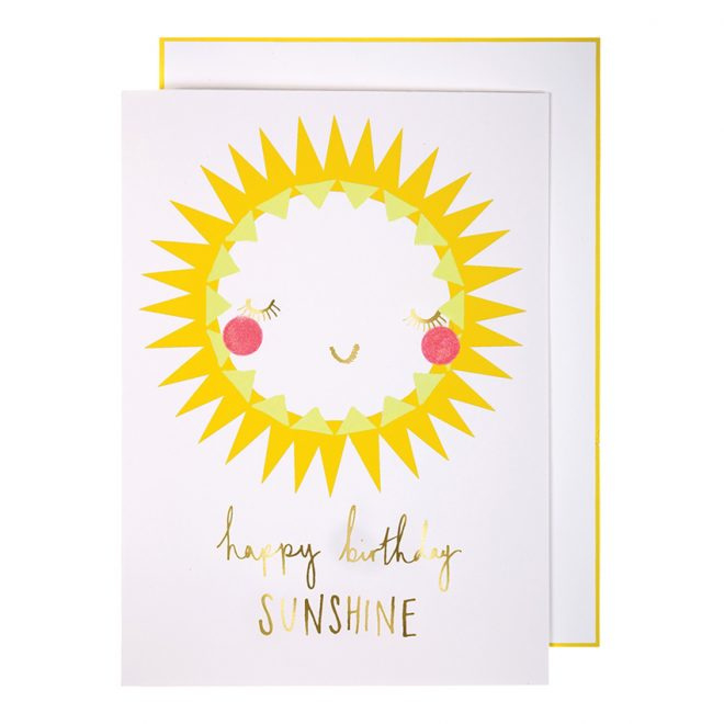 Meri Meri Happy birthday Sunshine kaart