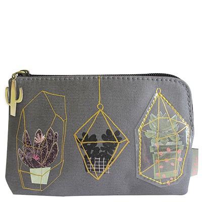 Disaster Designs urban garden zip purse
