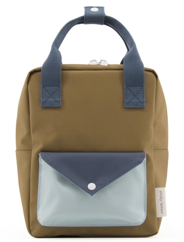 Sticky Lemon Backpack Enveloppe Small Gold Green