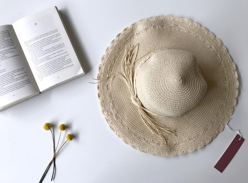 Kdootjes Summer Fashion Zomerhoed Beige Naturel