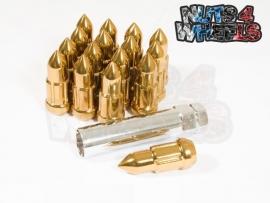 Bullet spline drive wielmoeren staal goud