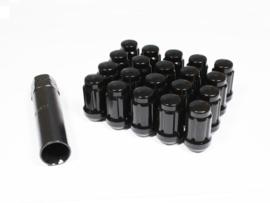 Spline drive wielmoeren staal kleur zwart