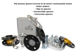 Diverse wielspacers en steek adapters