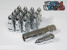Bullet spline drive wielmoeren staal chrome