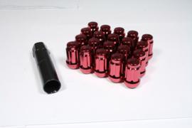 Spline drive wielmoeren staal kleur rood