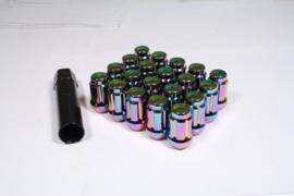 Spline drive wielmoeren staal kleur neo chrome