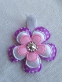 Haarlokspeldje:lila,wit,Licht rose.