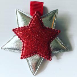 Glinsterende sterren clip..(Rood)