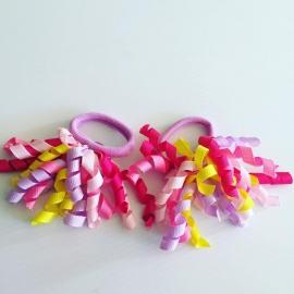 krullie met haar elastiekje(kleuren mix)