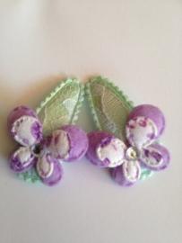 Haarspeldjes met vlindertje (Lila)