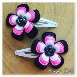 Haarspeldjes Black Flower