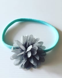 Nylon Haarbandje met glitter bloem