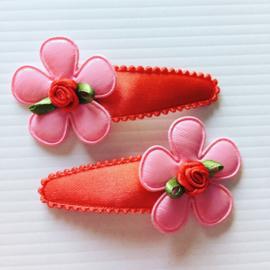 Haarspeldjes rood/roze