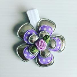 Haarlokspeldje zilver/lila