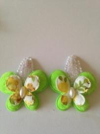 Haarspeldjes green butterfly