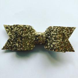 Haarstrik glitter goud