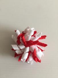 Mini Krullie rood/wit