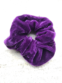 Schrunchie Donker paars