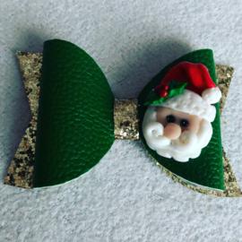 Kerst haarstrik Santa